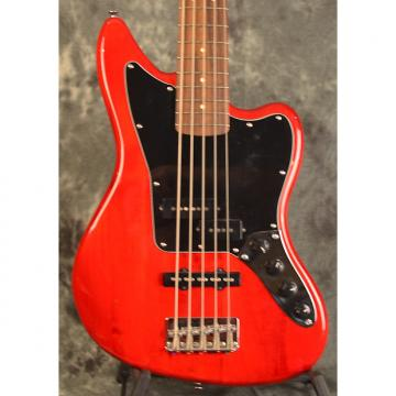 Custom Squier Vintage Modified Jaguar Bass Special Crimson Red Transparent