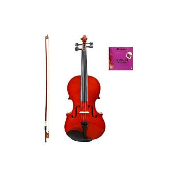 Custom Merano MV10 4/4 (Full) Size Acoustic Student Violin with Hard Case and Bow+Free Rosin+Extra E String
