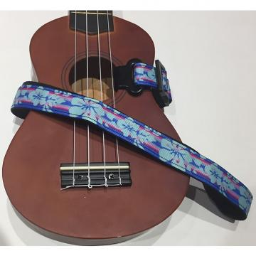 Custom Blue & Pink Flowers Ukulele Stap