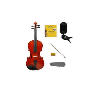 Custom Merano 4/4 (Full) Size Acoustic Student Violin with Hard Case and Bow+Free Rosin+Extra Set of String