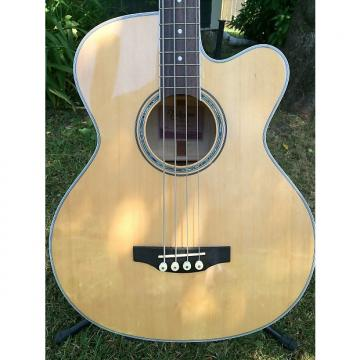 Custom Takamine GB72CE Jumbo acoustic/ electric bass, 2016 natural maple/ TKL hard shell case available
