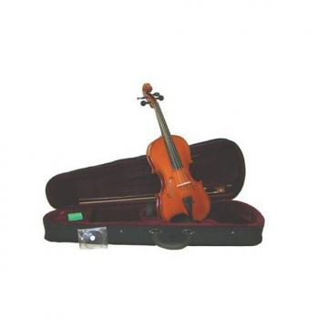 Custom Merano MV100 1/2 Size Student Violin with Case and Bow+Extra Set of Strings, Extra Bridge, Rosin