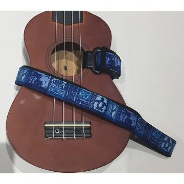 Custom Tiki Hawaiian Blue Ukulele Strap