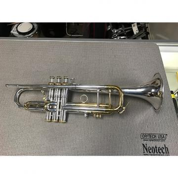 "Custom Bach  stradivarius Trumpet 1970 silver with ""gold package"""