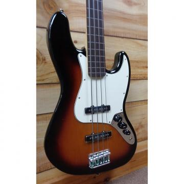Custom New Fender® Standard Jazz Bass® Fretless Brown Sunburst w/Gigbag