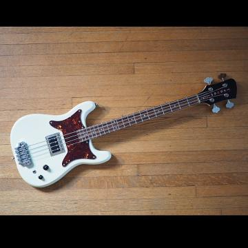 Custom Serek Basses Midwestern Short Scale Bass 2017 Vintage White Satin w/ Mono Sleeve