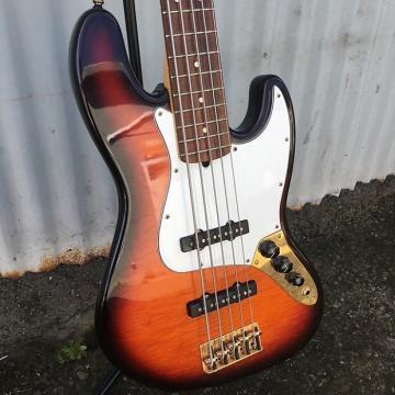 Custom Fender 50th Anniversary Limited Edition Jazz Bass V 1996 #498 of 500 Antique Sunburst