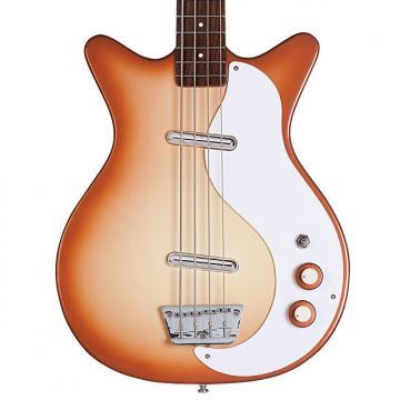 Custom Danelectro 59DC Long Scale Bass Copper Burst