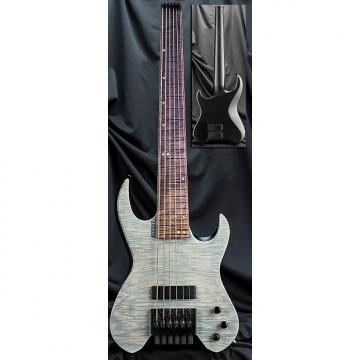"Custom Kiesel Carvin Vader VB6 6 String Headless Short Scale 30"" Electric Bass Guitar Translucent White"