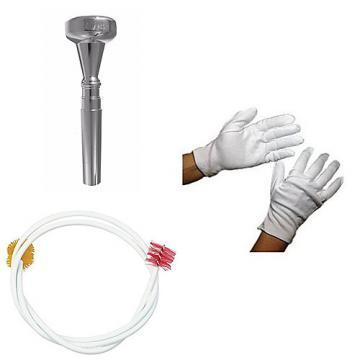 Custom Dizzy Gillespie Trumpet Mouthpiece w/Trumpet Snake + Marching Gloves