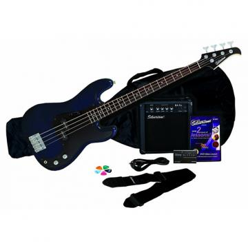 Custom Silvertone LB11 Bass & Amp Package, Cobalt/Dark Blue