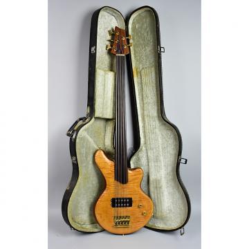 Custom Handmade Custom Alembic Style Natural 5 String Fretless Bass Guitar w/HSC Circa 1980 Natural