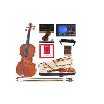 Custom Cecilio CVN-200 Solidwood Violin with D'Addario Prelude Strings, Size 3/4