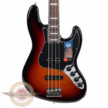 Custom Brand New Fender American Elite Jazz Bass with Rosewood Fretboard in 3 Tone Sunburst Demo Model