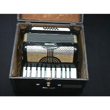 Custom Vintage Italian Made Camenano 12 Bass Accordion  in a Case as-is