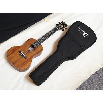 Custom LUNA Orchid concert Ukulele UKE - All SOLID Koa new w/ GIG BAG - Grover Tuners