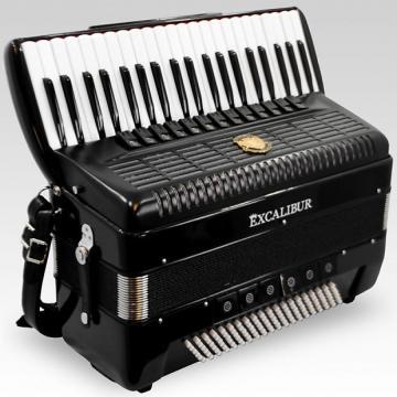 Custom Excalibur German Weltbesten Ultralite 120 Bass 13 Switch Piano Accorion - Satin Polish Ebony