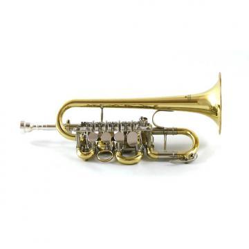 Custom Schiller Elite Rotary Piccolo Trumpet Gold