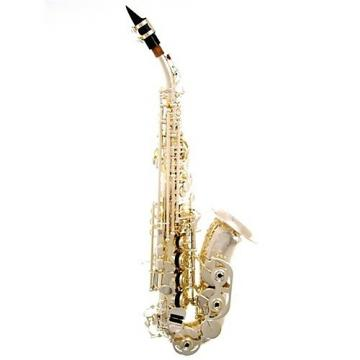 Custom New LA Sax Kim Waters Signature Curved Silver Soprano Sax