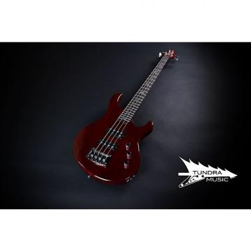 Custom PRS SE Kingfisher Bass - Scarlet Red - Proprietary Humbuckers (156)