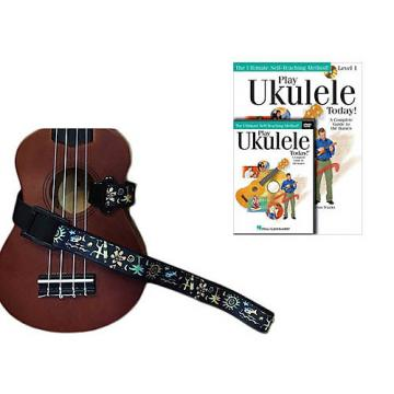 Custom Deluxe Ukulele Strap - Hawaiian Surfer Strap w/Bonus Play Ukulele Today Book CD DVD Pack