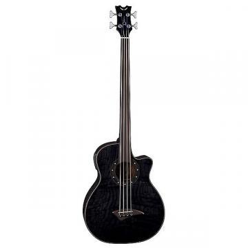 Custom Dean Exotica Quilt Ash A/E Bass Fretless TBK