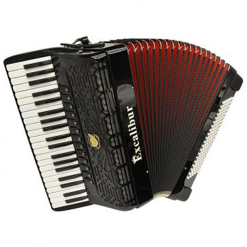 Custom Excalibur  Professionale Crown 120 Bass 13 Switch Piano Accordion - Black