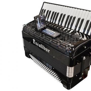 Custom Excalibur  Crown Triple Mussette Piano Accordion with ELX - Black
