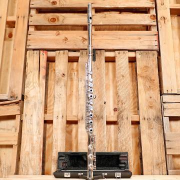 Custom Yamaha YFL-385 Intermediate Open-Hole B-foot Flute Outfit Silver/Nickel