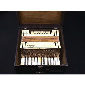 Custom Vintage German MadeDulce Art Deco Style 12 Bass Accordion in it's Original Case & Ready to Play as-i