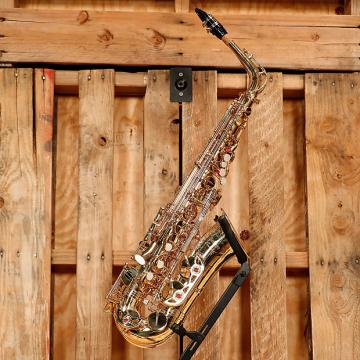Custom Selmer Soloist Student Alto Saxophone Outfit *Rental Inventory Clearance* 2010's Brass Lacquer