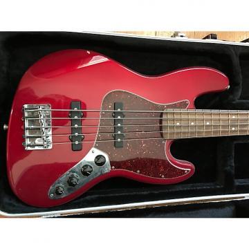 Custom Fender MIM Deluxe Jazz Bass V 2000 Red / Tortoise Pickguard w/HSC