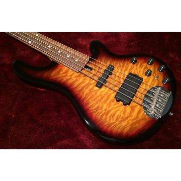 Custom Lakland 55-02 Deluxe three-tone sunburst with quilted maple top