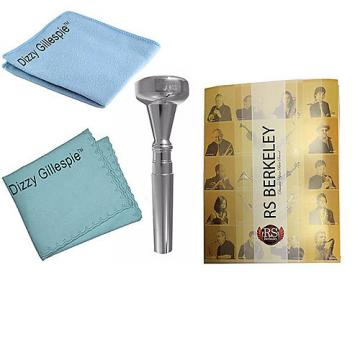 Custom Dizzy Gillespie Trumpet Mouthpiece w/Silver Polish Cloth & Cleaning Cloth + Band Folder