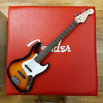 Custom Squier Affinity Jazz Bass V 2016 Brown Sunburst
