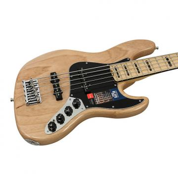 Custom Fender American Elite Natural Ash Jazz Bass V