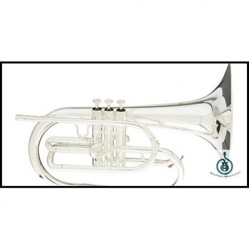 Custom Blessing BM-100S Silver Marching F Mellophone with Case; Free Shipping