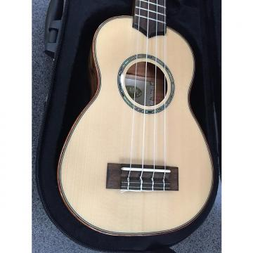 Custom KALA KA-FMSG Flame Maple Series Soprano Ukulele w/ case Solid Top 2016 Natural