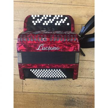 Custom Accordion B System Luciano 72 Bass  Red