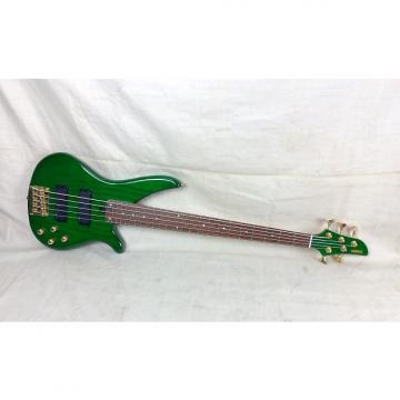 Custom Used Yamaha RBX765A Electric Bass Guitar 5 String Transparent Green