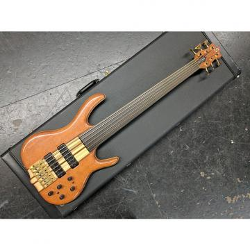 Custom Ken Smith BSR6EG 1998 Natural Gloss BSR 6-String Unlined Fretless Elite G Lacewood