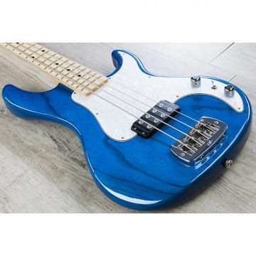 Custom G&L USA Kiloton Electric Bass, Maple Fingerboard, Hard Case - Clear Blue