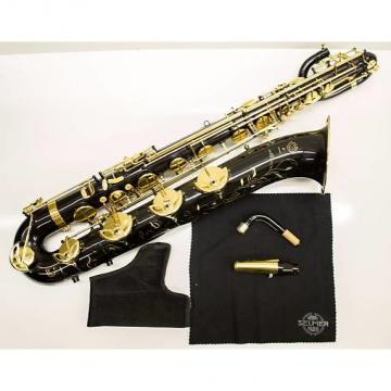 Custom Selmer Selmer Paris Series III Professional Model 66AFJBL Baritone Saxophone black and yellow brass