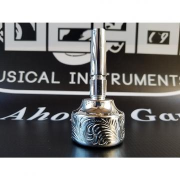 Custom Culture PI Trombone double cup Hand Engraved mouthpiece