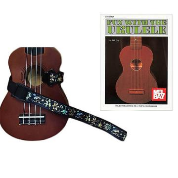 Custom Masterstraps Hawaiian Surfer Ukulele Strap Pack w/Bonus Ukulele Book Fun With The Ukulele