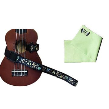 Custom Masterstraps Hawaiian Surfer Ukulele Strap Pack w/Bonus Ukulele Cleaning Cloth
