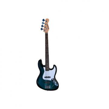 """Custom Full Size 4 String 46"""" Jazz J Electric Bass Guitar and Amplifier Pack with Free Gig Bag and Accessor"""