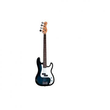 Custom Full Size 4 String BLUE Precision P Electric Bass Guitar with Gig Bag and Accessories (Includes, Str
