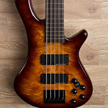 Custom 2017 Wolf S8-5 Brown Sunburst 5 String Neck Through Bass.