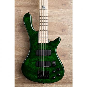 Custom 2017 Wolf S8-5 Transparent Green 5 String Neck Through Bass [Maple Fingerboard]